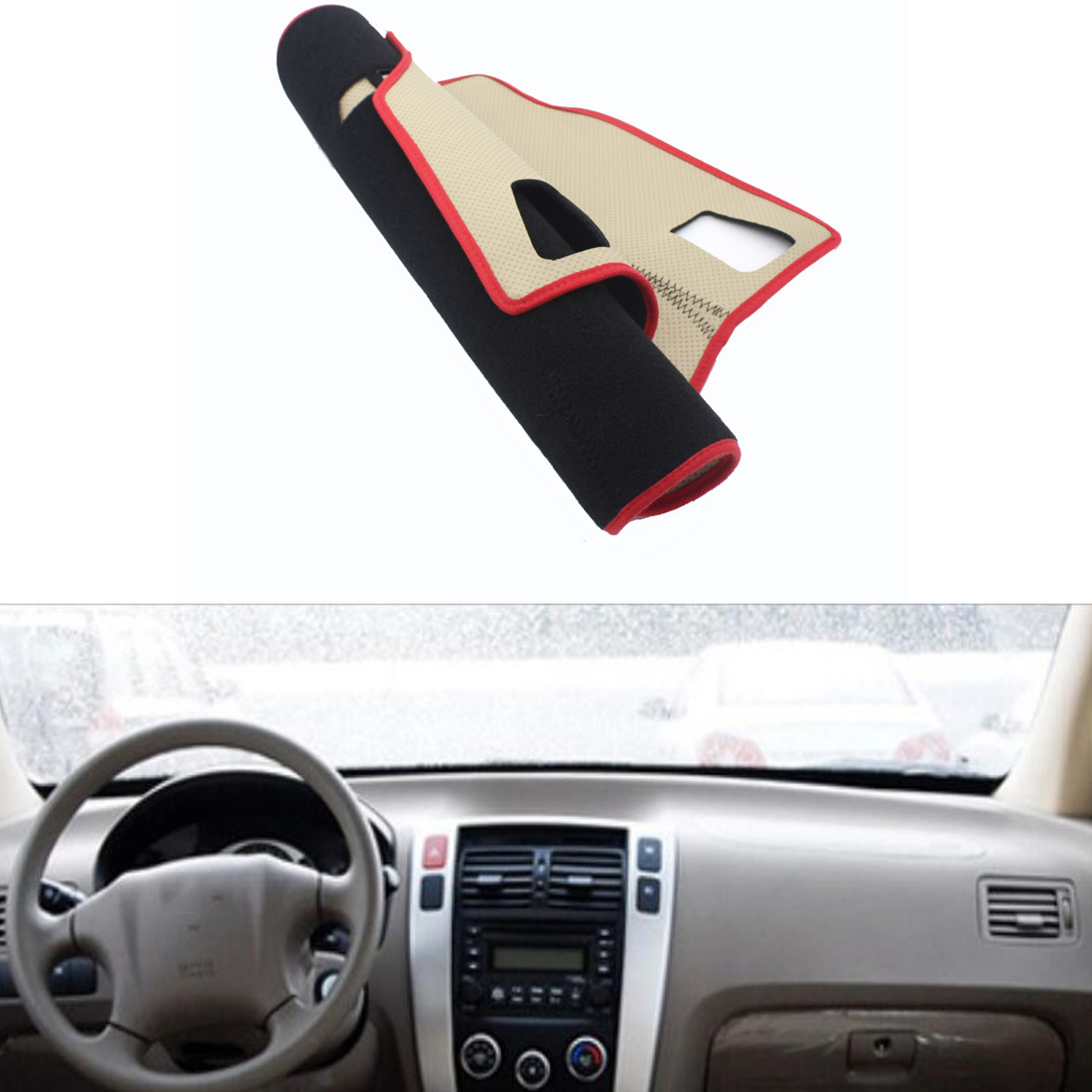 For Hyundai Tucson 2006 2013 Car Dashboard Avoid Light Pad Instrument Platform Desk Cover Mat Silicone