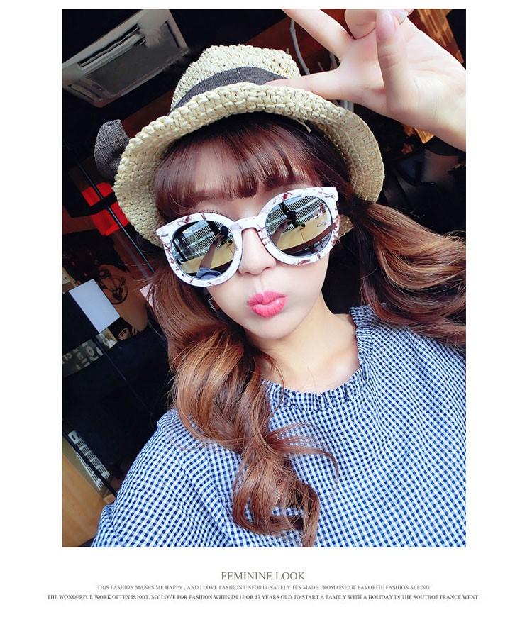 HTB1yE49LVXXXXb9XVXXq6xXFXXXP - Marbling Sunglasses Women Round Frame PTC 268