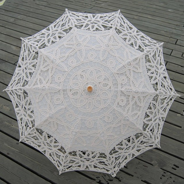 Fashion Embroidery Lace Wedding Umbrella Parapluie Ombrelle Dentelle  Wedding Mariage