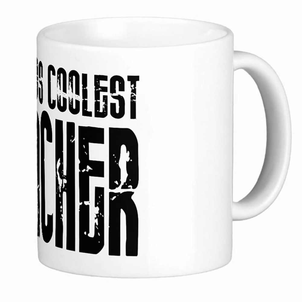 Gifts For Teachers Worlds Coolest Teacher White Coffee Mugs Tea Mug Customize Gift By LVSURE Ceramic Mug Travel Coffee Mugs image