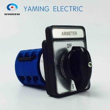 Yaming electric Selector Ammeter Changeover switch 20A 4 Position 3 phases rotary cam switch control motor ac 380v 10a 3 position rotary changeover switch hz5b 10 d1050 4 cam switch selector