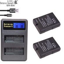 Batterie 2x EN-EL14 EN-EL14A EN EL14 EL14A + chargeur USB pour Nikon COOLPIX P7000 P7700 P7800 D3100 D3200 D3300 D5100 D5200