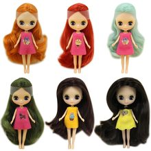 Factory Blyth Doll Mini Blyth Nude Doll 10CM 10 Different Styles Different Color Random For One Clothe(China)