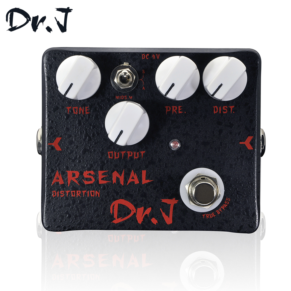 Dr.J D51 Stompbox Distortion Electric Guitar Effect Pedal True Bypass Guitar Accessory Music Instrument diy overdrive guitar effect pedal kit true bypass with 1590b box for electric guitar stompbox pedals od1 kits