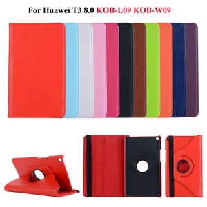 360 Rotating PU Leather Case for Huawei MediaPad T3 8.0 KOB-L09 KOB-W09 Tablet Funda Cover forHonor Play Pad 2 case +Gifts(China)