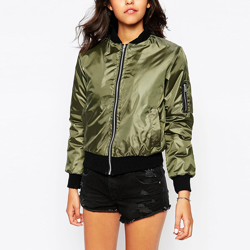 2016 Winter Flight army green bomber jacket women jacket and ...