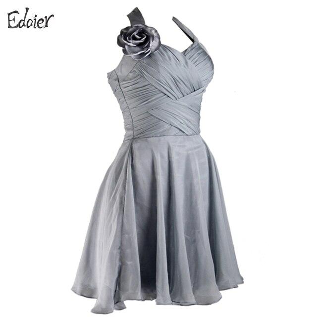 4ae94e5ec Vestidos de cóctel 2017 Una Línea Cabestro Gasa Backless Corto Mini Vestido  de fiesta Vestido de