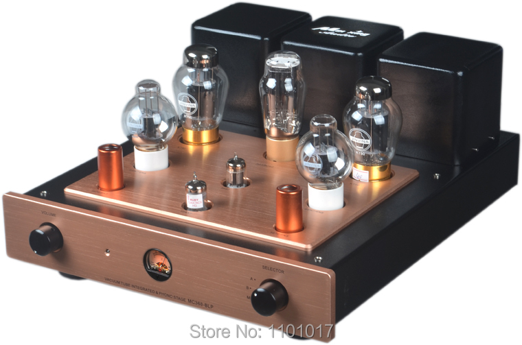 Meixing MingDa MC368-BLP KT90 Tube Amplifier HIFI EXQUIS Integrated Single-Ended Class A Amp With Phono Stage meixing mingda mc368 b kt88 push pull tube amplifier hifi exquis high power 50wx2 integrated lamp 6n8p 6sn7 amp