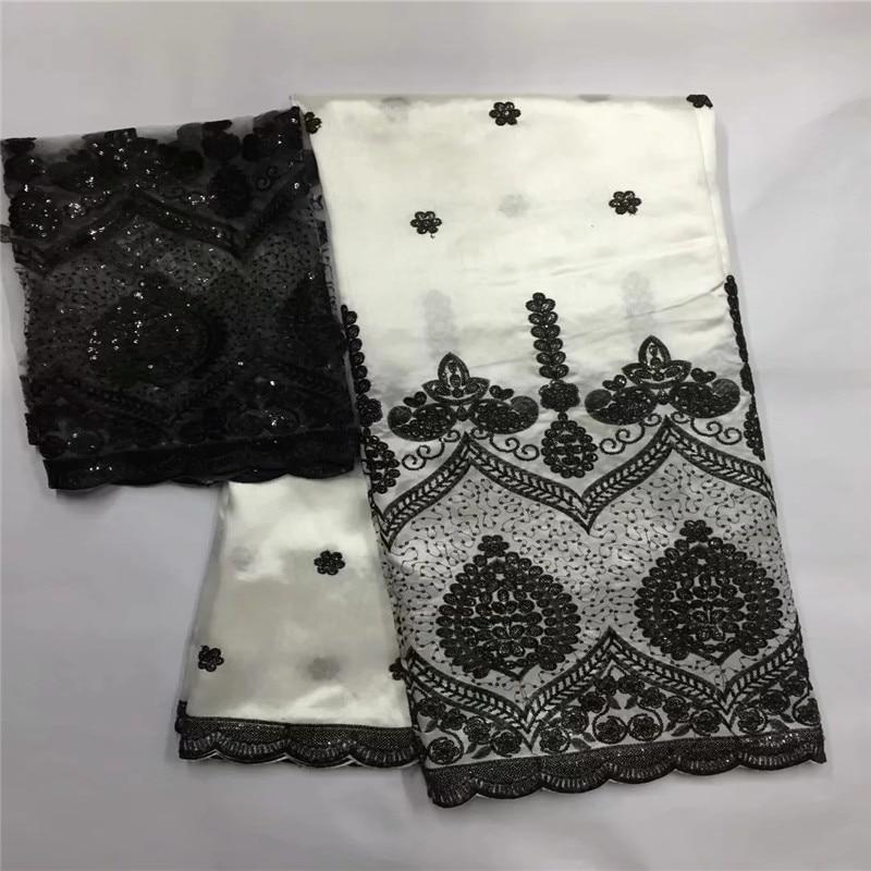 Wysokiej klasy dziura projekt george koronki tkaniny indian george wrapper afryki surowy jedwab george koronki tkaniny dać 2 metrów tulle koronki LXE w Materiał od Dom i ogród na  Grupa 1