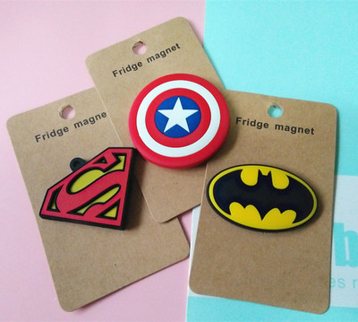 New Arrivals Cartoon Captain America Superman Fridge Magnets Kawaii Cute Lovely Batman Decorative Souvenir Magnetic Sticker Tz46 number