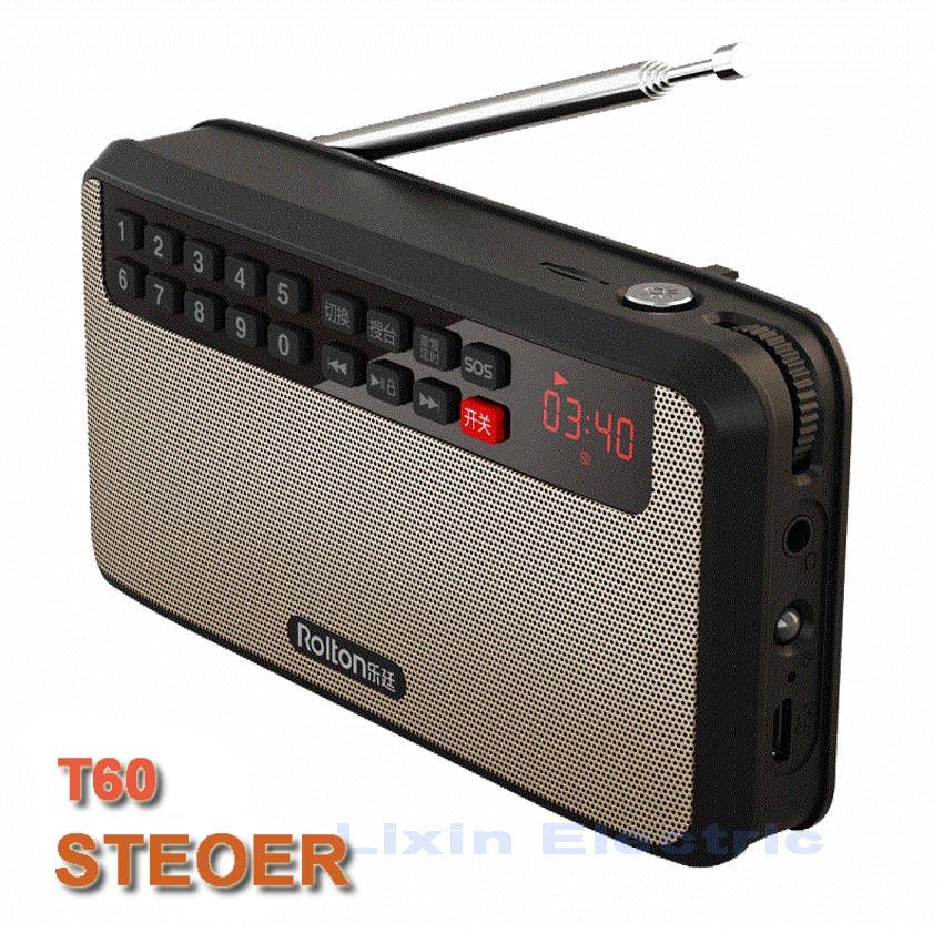 RoltonT60 MP3-afspiller Mini bærbare lydhøjttalere 2.1 FM-radio med - Bærbar lyd og video - Foto 6