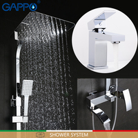 GAPPO bathtub faucet shower system mixer tap chrome waterfall Bathroom faucets|Shower System|Home Improvement -