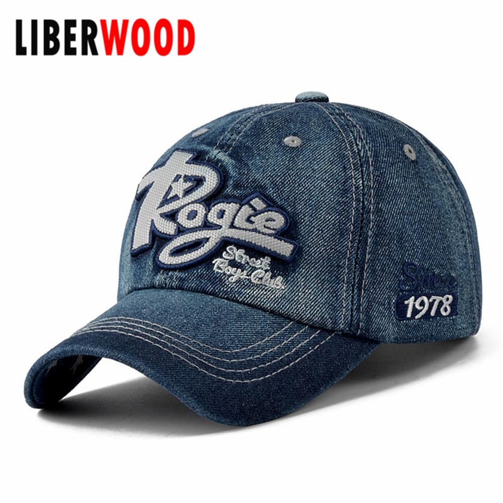 denim plain solid blue style classical baseball hat