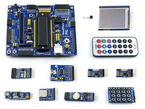 Open18F4520 Package A # PIC18F4520-I/P PIC18F4520 PIC PIC18F 8-bit RISC PIC Development Board +11 Accessory Modules xilinx fpga development board xilinx spartan 3e xc3s250e evaluation board kit lcd1602 lcd12864 12 modules open3s250e package b