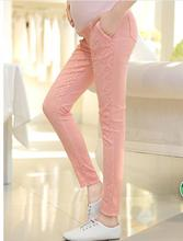 Spring maternity clothes Korean maternity abdominal pants lace high elastic slim pants plus size Maternity Pants SH-3207