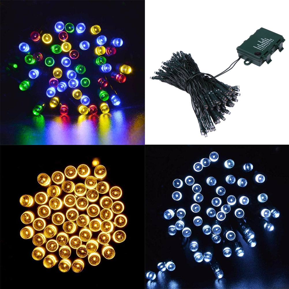 10 m 100led 8 modes Batterie Chaîne De Led Lumière pour la Noce de Vacances Décoration Guirlande De Noël Fée De Noël