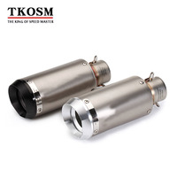 TKOSM Motorcycle Parts Carbon Fiber SC Racing Exhaust Decal Exhaust Pipe Silencer Laser With 51mm DB