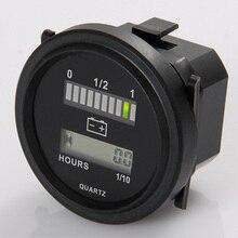 Круглый ЖК-счетчик часов со светодиодным индикатором батареи Калибр 12 в 24 в 36 в 48 в 72 в для автомобиля гольф трактор подметальная машина