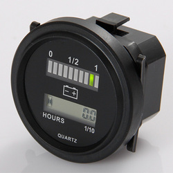جولة lcd ساعة متر مع الصمام مؤشر البطارية قياس قياس 12 فولت 24 فولت 36 فولت 48 فولت 72 فولت لعبة غولف سيارة جرار سيارة كنس الشوارع