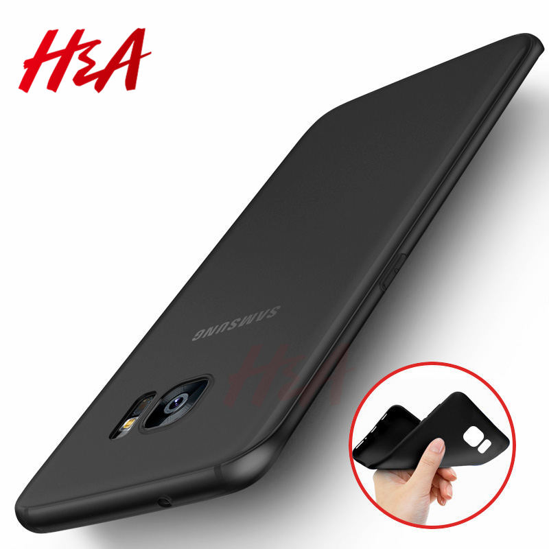 H&A Ultra Thin Matte Silicone Cover Case for Samsung Galaxy A5 A3 A7 J5 J7 2015 2016 2017 S5 S6 S7 Edge S8 S9 Plus Soft Case