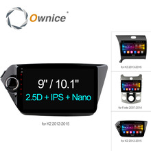 Ownice C500 + Android 6.0 Octa 8 Çekirdekli araba radyo çalar GPS navi DVD Kia k2 K3 Forte 2012 için 2G RAM 32G ROM Destek 4G LTE DAB +