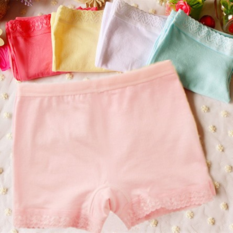 NEW 2017 girls safety panties cotton underwear SY351 small child flat angle panties kids underwear Color random 2-10 years