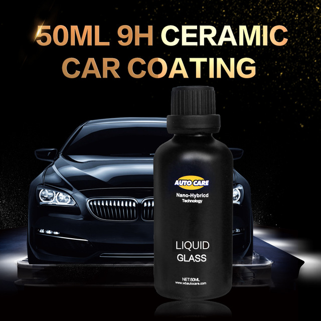 Ceramic Car Coating Liquid Glass 50ML 9H Hardness Car Polish Motorcycle Paint Care Nano Hydrophobic Coating Spray Nozzle Choice(China)