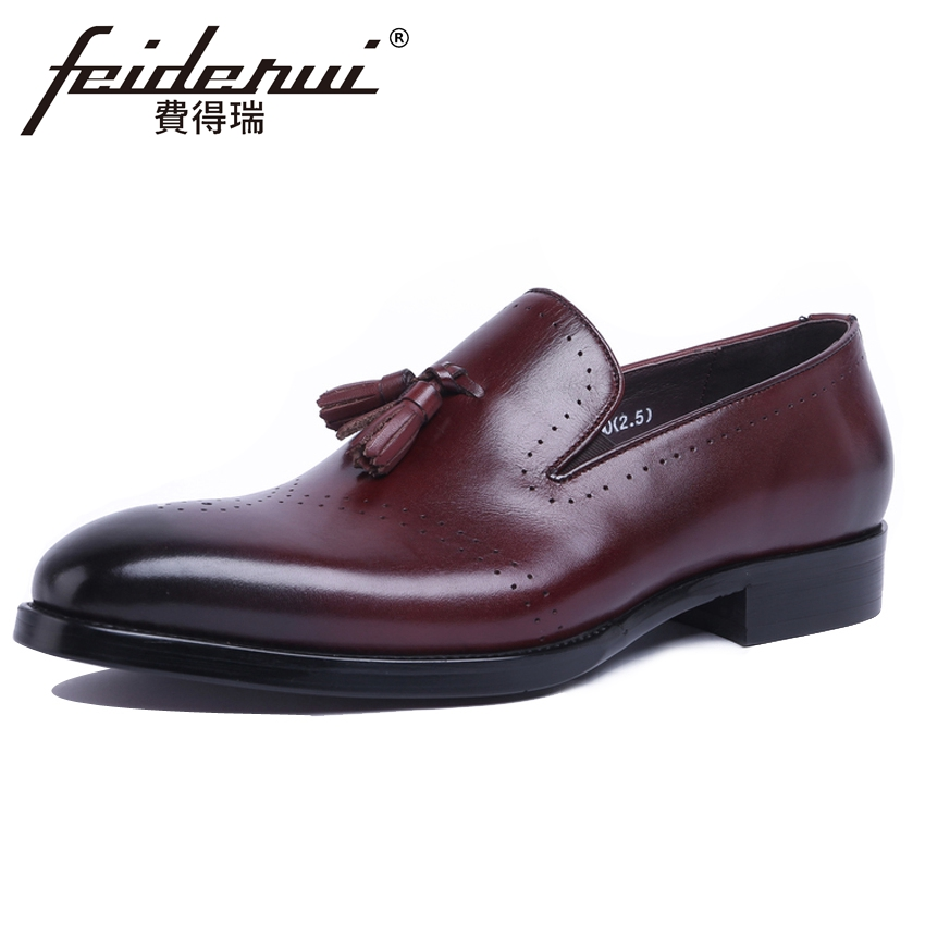 British Carved Genuine Leather Mens Comfortable Loafers Round Toe Slip on Handmade Man Height Increasing Casual Shoes YMX581British Carved Genuine Leather Mens Comfortable Loafers Round Toe Slip on Handmade Man Height Increasing Casual Shoes YMX581