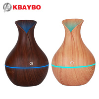 130ml Ultrasonic Wood Grain USB Humidifier Car Humidifier Aromatherapy Aroma Essential Oil Diffuser For Home Bedroom