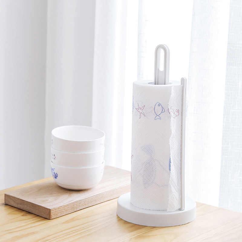 Toaleta Papier kuchenny wieszak na ręczniki rolki pudełko na chusteczki z tworzywa sztucznego Rack pulpit piętro pionowa serwetki stojak łazienka akcesoria do przechowywania