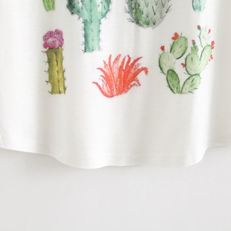 HTB1yE6vNpXXXXcvaXXXq6xXFXXXo - New 2017 Summer Women Desert Cactus Print T Shirts Cute