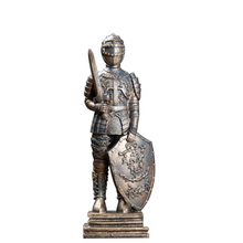 Medieval European Armor Warrior Model Miniatures Ornament Home Decoration Accessories Retro Armor Warrior Resin Craft Figurines polyresin ancient greek roman warrior armor model creative home decration aircraft gift