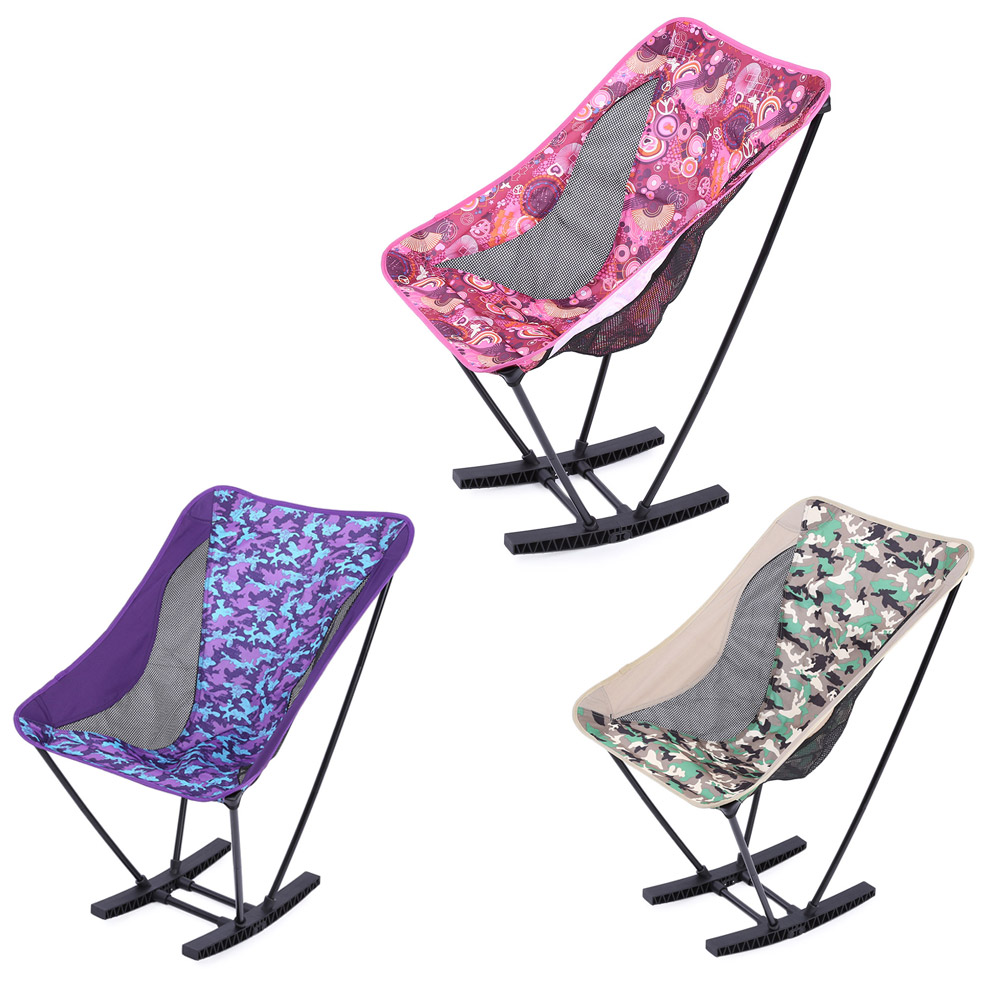 Aluminum Alloy Folding Chair Outdoor Rocking Chair Lightweight with Bag for C&ing Picnic Beach Fishing 3 Colors-in Fishing Chairs from Sports ...  sc 1 st  AliExpress.com & Aluminum Alloy Folding Chair Outdoor Rocking Chair Lightweight with ...
