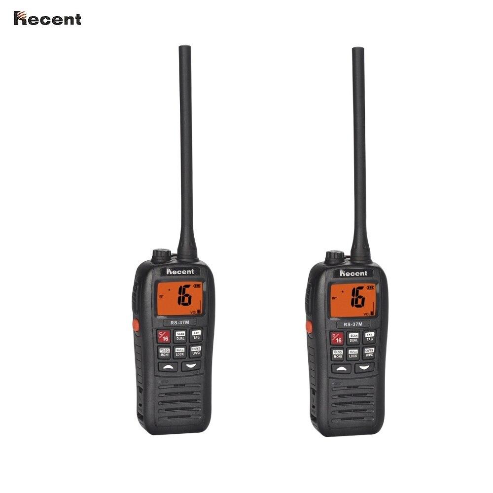 2 QUANTITÉ RÉCENTE RS-37M Vhf portable Radio Maritime Dynamique Flotteurs Étanche Performance Tri-montre 156 ~ 161.45 MHz De Poche émetteur-récepteur