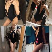 Sexy 2019 One Piece Swimsuit Women Solid Swimwear Female High Waist Beachwear Bathing Suit Summer Swim Suit Monokini Beach Wear