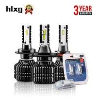 HLXG Auto Zestaw Reflektorów 9005/H1 H3 H4 H7 H11 HB3 Led LM Samochody Samochodów żarówki 12 V 52 W Lampa CSP Chipy 6000 K Zimna biały