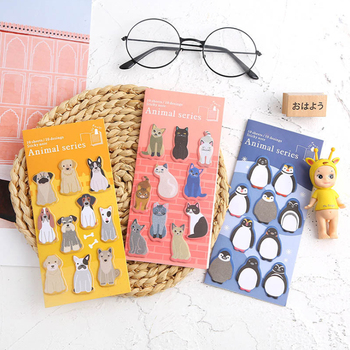 цена на 2pack /lot Creative Cute Zoo Sticky Self-Adhesive Memo Pad N Times Sticky Notes Office School Supplies
