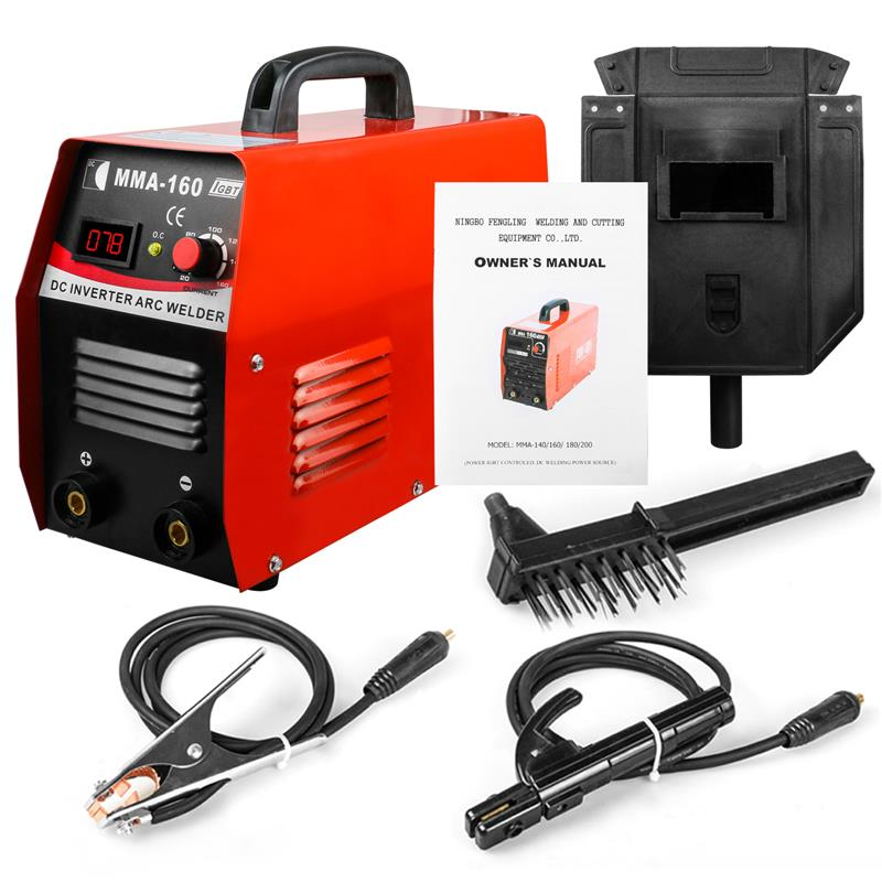 Electric welder Inverter Welder 110V IGBT Mini Arc Welding Machine 20-160A with Face Shield Welding Rod Holder Copper Cable стоимость