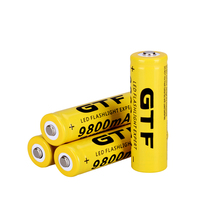 GTF 3.7V 9800mah 18650 Battery Li-ion Rechargeable Battery LED Flashlight Torch Emergency Portable Devices Tools Dropshipping стоимость