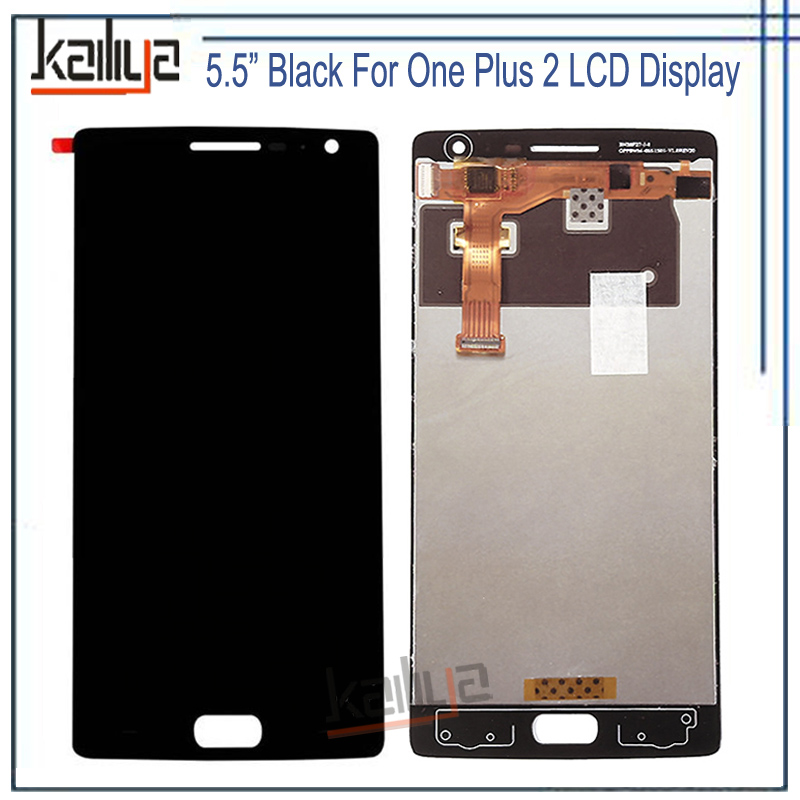 Black 5.5 inch For <font><b>OnePlus</b></font> <font><b>2</b></font> LCD Display With Touch <font><b>Screen</b></font> Digitizer Assembly For One Plus Two Glass Lens and LCD <font><b>Replacements</b></font> image