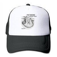 תלוי מעל לקיחת היום זה לאט עצלן עצלן יוניסקס כובע בייסבול Snapback כובע נהג משאית רשת
