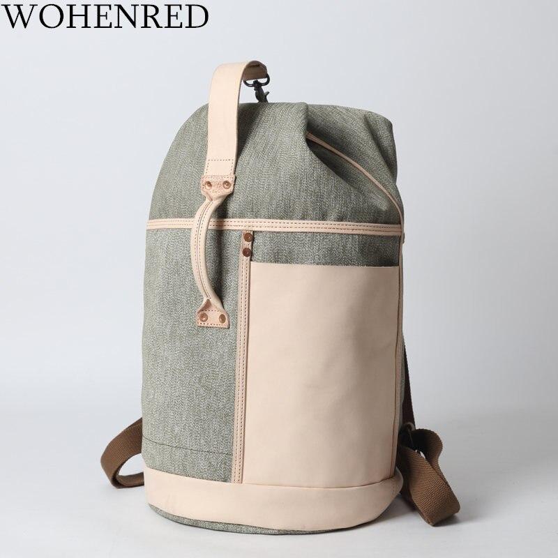 2019 grande capacité sac à dos homme sac de voyage classique cylindrique sac à dos homme bagages toile seau sacs à bandoulière hommes sacs à dos