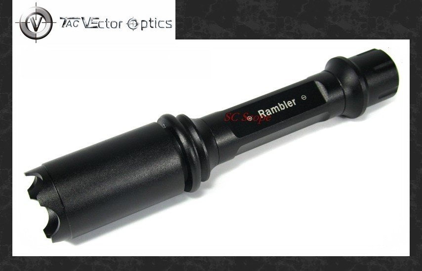 Vector Optics Tactical 1W Cheap LED Flashlight Agressire Head 80 Lumens for Hunting Light