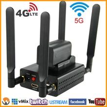 URay 4G LTE 1080 P Wireless HDMI Para IP Codificador De Vídeo H.264 HDMI Streaming De UDP RTMP Codificador Codificador H264 HDMI Wi-fi Para Viver, IPTV