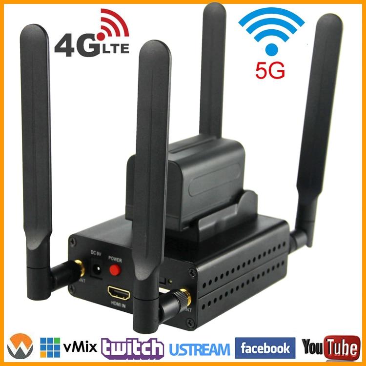 URay 4g LTE 1080 p Sans Fil HDMI À IP Encodeur Vidéo H.264 HDMI Streaming Codeur H264 HDMI RTMP UDP codeur WiFi Pour Vivre, IPTV