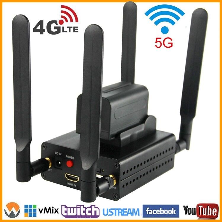 URay 4g LTE 1080 p HDMI Sem Fio Para Streaming de IP Codificador de Vídeo H.264 HDMI Codificador H264 HDMI UDP RTMP wiFi codificador Para Viver, IPTV