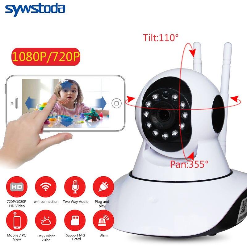 Pan Tilt 1080P Wifi Full 355 Degree Rotation 720P Camera Audio Wireless SD Card P2P Email Alert Night Baby Monitor
