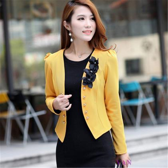 Plus Size 5XL Womens Blazer Work Office Women Blazer Long Sleeve Coat Fashion Casual Pink Black Suit Basic Fall Jacket 2