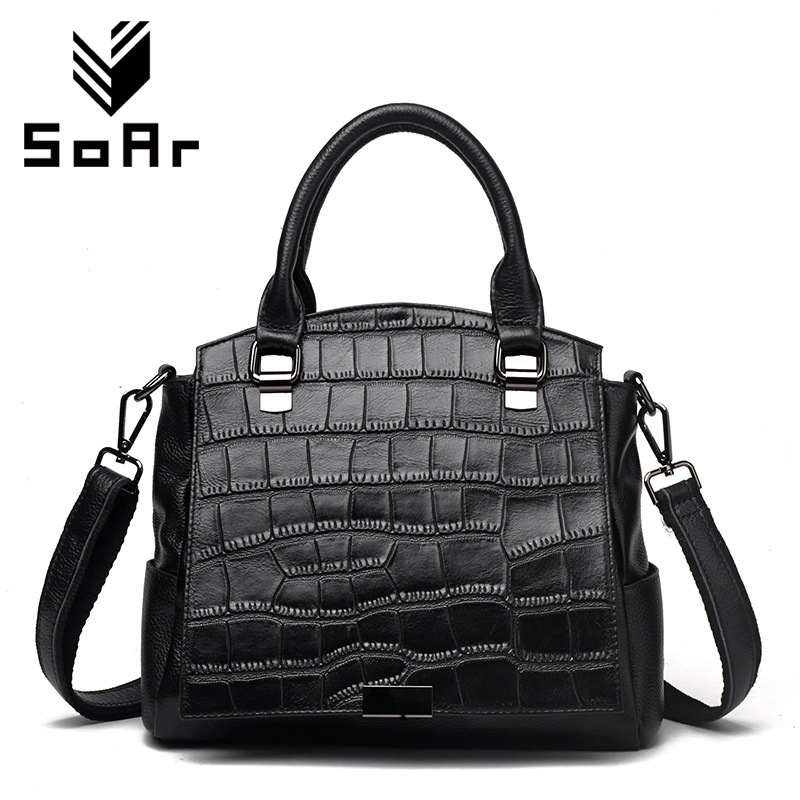 SoAr New Fashion Women Messenger Bags Casual Tote Ladies Handbags Genuine Leather Luxury Brand Alligator Bolsa Mujer Hot Selling sex and the city the movie
