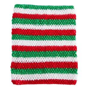 Вязанная крючком юбка-пачка для маленьких девочек, 9 дюймов, топы-трубы, обхват груди, широкая вязаная крючком, топы, юбка-пачка «сделай сам», платье, поставщик - Цвет: XMAS Stripe top